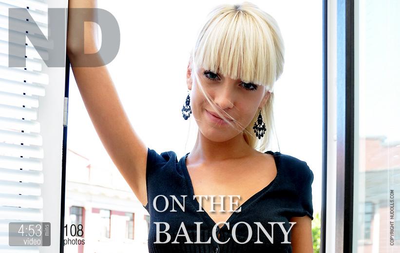 On the balcony